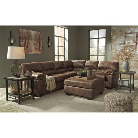 faux leather sectional sofa ashley ashley signature design bladen 3 piece faux leather