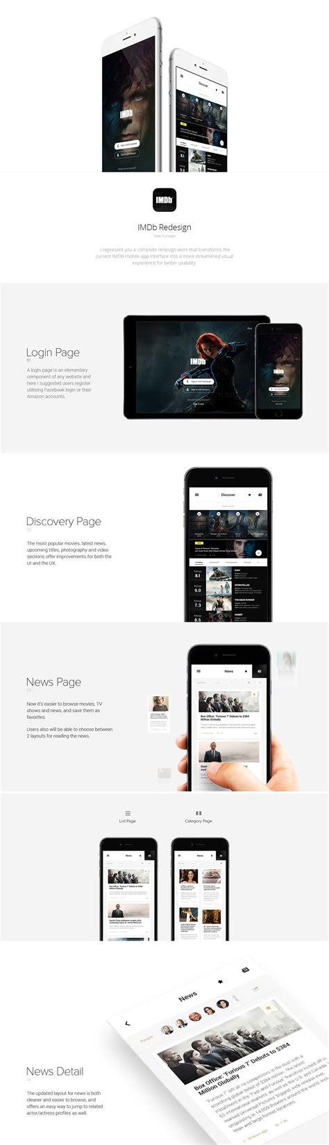 imdb mobile imdb mobile app redesign on behance mobile app mobile