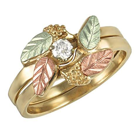 Bridal Gold Ring by 10k Black Gold Bridal Set Ring Size 6 W 0
