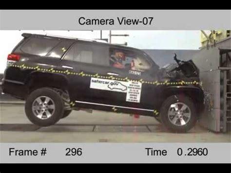 vehicule crash test 2010 20 toyota 4runner full frontal nhtsa extreme youtube
