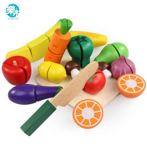 buy pcsset wooden kitchen toys cutting