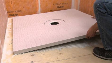 Extending a Schluter® KERDI SHOWER Tray with Dry Pack