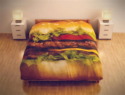 cheeseburger bed found this interesting pizzas and other food beds steemit