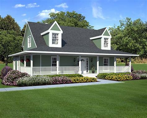 country style house with wrap around porch free home plans wrap around house plans