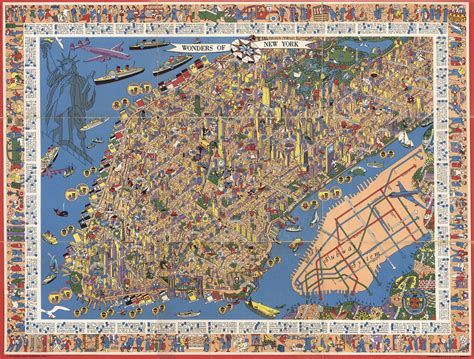 show map of new york amazing detailed graphic designer s map from the 1950s