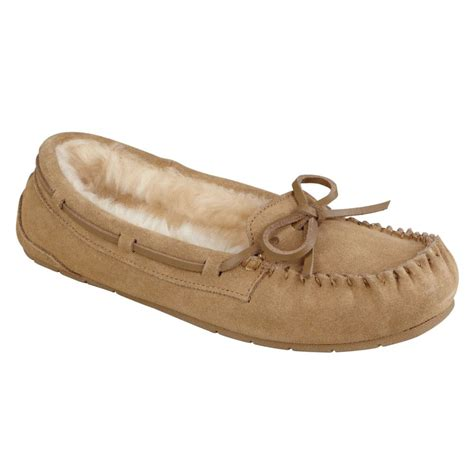 moccasin slippers womens bongo s moxie moccasin slippers 141y ebay