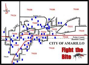 map of amarillo mosquito