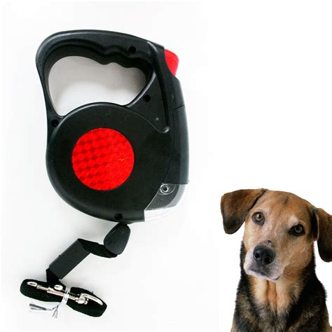 retractable dog leash with light new 14 5 ft retractable pet dog leash with led flash light
