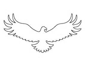 drawing stencils templates eagle pattern use the printable outline for crafts