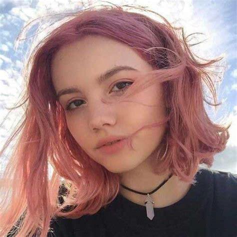 lala pink cortes de cabelo bonito de rosa de cabelo curto ideias para meninas 187 bom