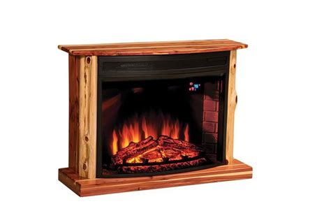amish electric fireplace insert amish rustic cedar electric fireplace fireplaces pine