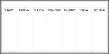 weekly calendar board weekly calendar template