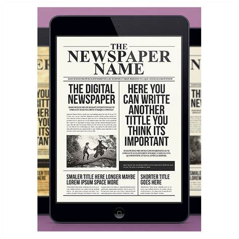 52 printable newspaper templates psd apple pages