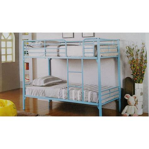 size metal bunk beds single size metal bunk bed in aqua blue buy baby