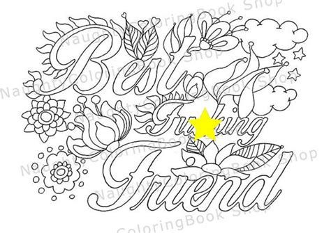 happy birthday best friend coloring pages best fcking friend best friend gift best friend birthday