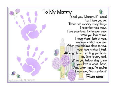 baby s s day poem i d tell you if i could baby s 1st handprints by