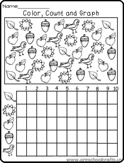 printable graphs for preschoolers graph worksheets for kindergarten preschool crafts