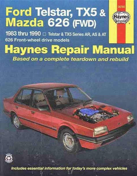 best car repair manuals 1987 mazda 626 navigation system ford telstar tx5 mazda 626 fwd 1983 1990 haynes owners service repair manual 1563922770