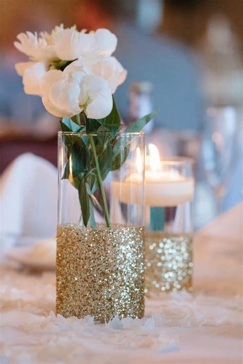Glitter Vase Centerpiece by Memorable Wedding Wedding Ideas That Glitter