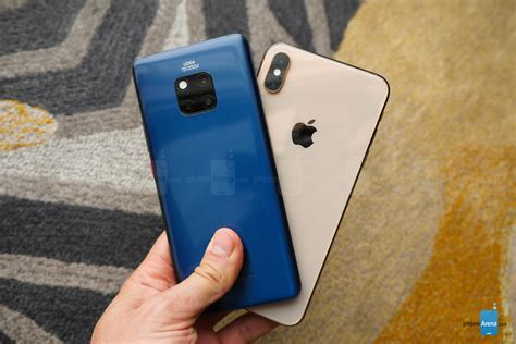 huawei mate 20 pro vs apple iphone xs max look phonearena reviews