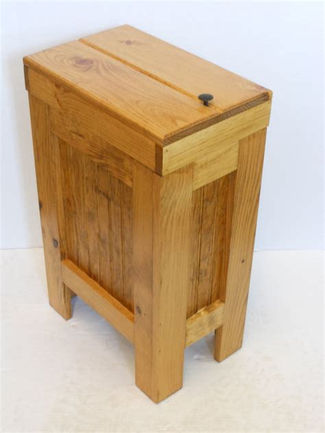 wooden kitchen garbage cans wood wooden kitchen garbage can trash bin by buffalowoodshop