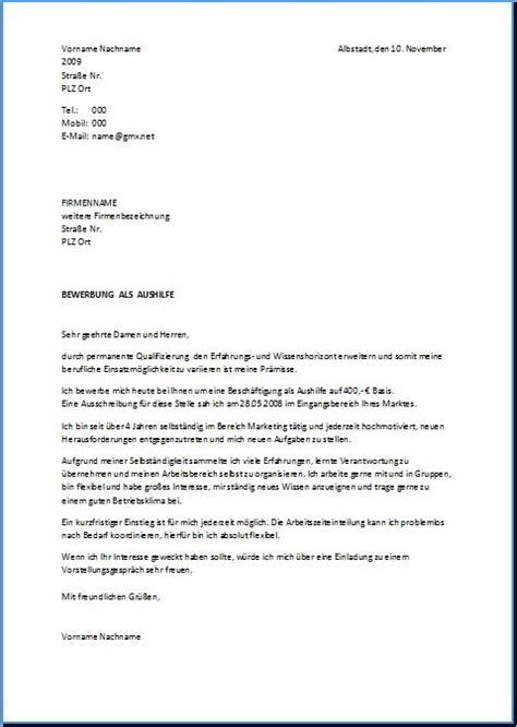 Bewerbungsschreiben Muster Verkäuferin Lidl Aushilfe Bewerbung Bewerbung Aushilfe Schreiben