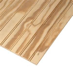 ply bead 11 32 x 4 x 8 beaded pine sanded plywood lowe s