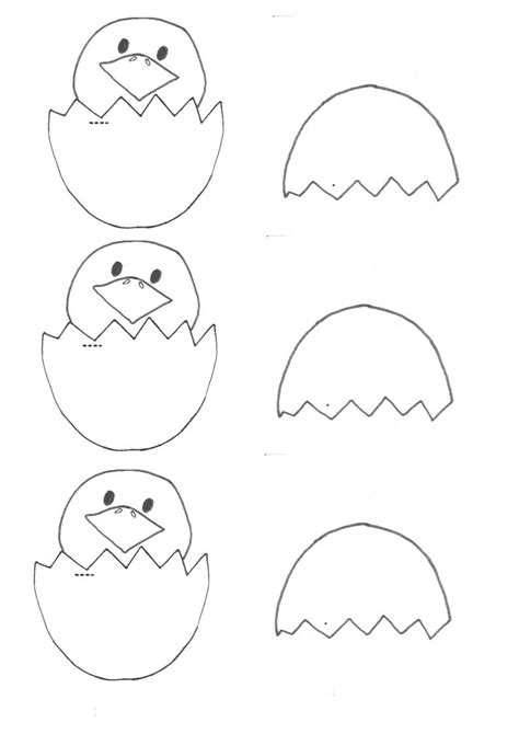 easter craft templates easter craft hatched egg chicky template be a