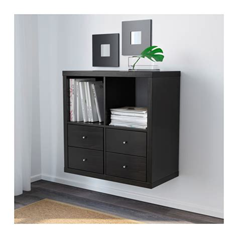 ikea scaffali kallax kallax shelf unit black brown ikea