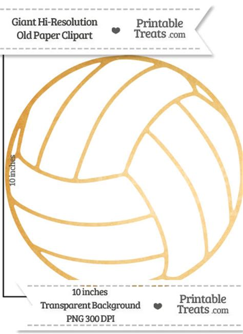 printable volleyball paper old paper giant volleyball clipart printable treats com