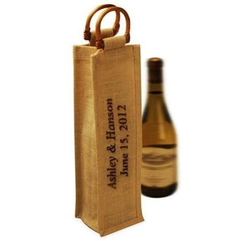 personalized jute wine bags wine gift bags wine bottle