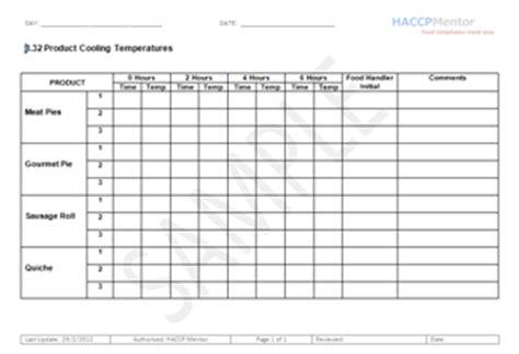 Ccp Monitoring Records For Haccp Haccp Mentor Haccp Log Templates
