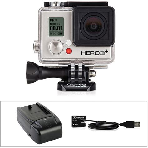 Gopro Gopro 3 Silver New gopro hero3 silver edition with wall charger and battery b h