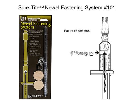 Replacement Banister Newel Post Fasteners