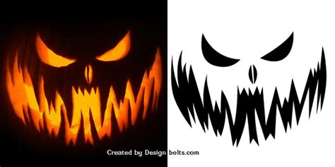 evil pumpkin template 10 free scary pumpkin carving patterns stencils