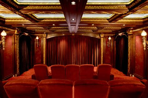 home theater interior malinard manor theatre