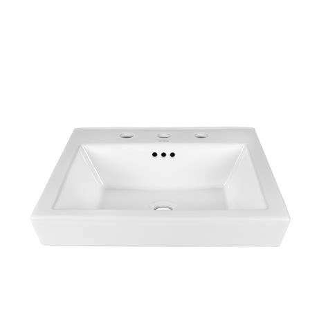 ronbow square vessel sink ronbow essentials square tapered self ceramic