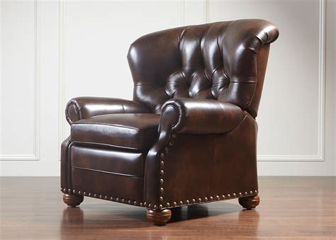 Ethan Allen Cromwell Recliner by Cromwell Leather Recliner Omni Tobacco Ethan Allen