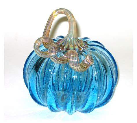 hand blown glass pumpkin