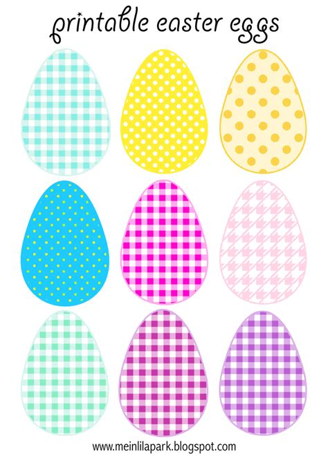 printable paper easter eggs free printable cheerfully colored easter eggs