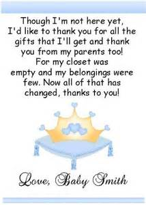2 our prince princess baby shower thank you cards