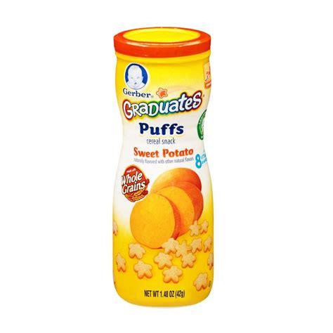 Gerber Graduates Puff Snack Bayi Snack Gerber jual gerber graduates puff sweet potato snack bayi 42g