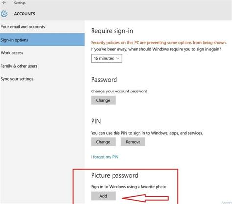 windows reset machine password learn how to setup and change windows 10 picture password