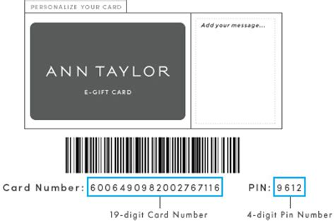 Can You Use E Gift Cards In Store - gift card ann taylor