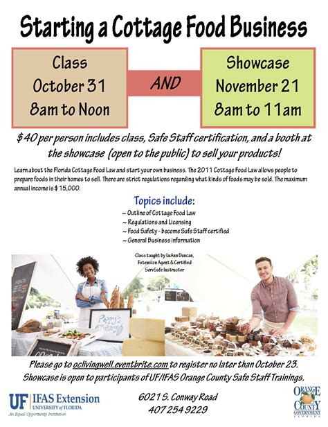 starting a cottage food business cottage food showcase