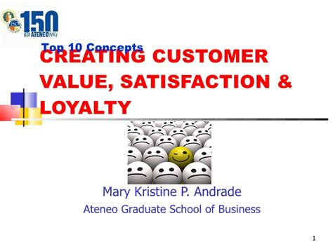 Ateneo Graduate School Mba by Customer Satisfaction Presentation