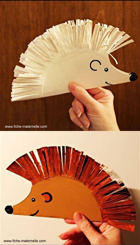 Hedgehog Paper Plate Craft - assiettes en papier enfant and moteur classique on