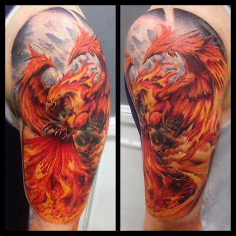 phoenix tattoo sleeve 36 tattoos on sleeve
