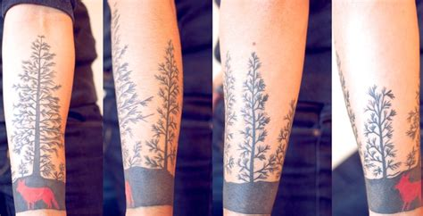 forest silhouette tattoo forest t a t o u a g e forest