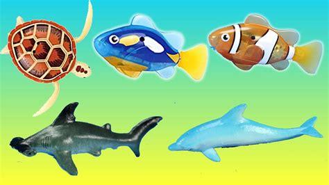 Mainan Edukasi Robo Fish Sea robotic fish turtle sea animals educational toys animals eggs in the water